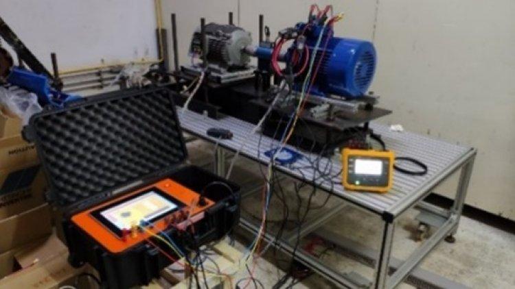 เครื่องตรวจวัดประสิทธิภาพมอเตอร์เหนี่ยวนำ แบบสามเฟส แบบพกพา